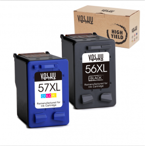 Voshy Remanufactured 56XL 57XL Ink Cartridges, High Yield Replacement for Deskjet F4180 5150 5550 5650 Officejet 6500 4215 6000 6100 7000 Photosmart 7150 7960 PSC 2175 1315 1210-1 Black, 1Tri-Color