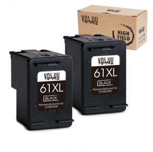 Voshy Remanufactured Ink Cartridge Replacement for HP 61XL 61 XL (Black , 2-Pack), work with HP Envy 4500 5530 4502 5534 5534 Officejet 4630 4635 Deskjet 1000 2540 1010 Printer