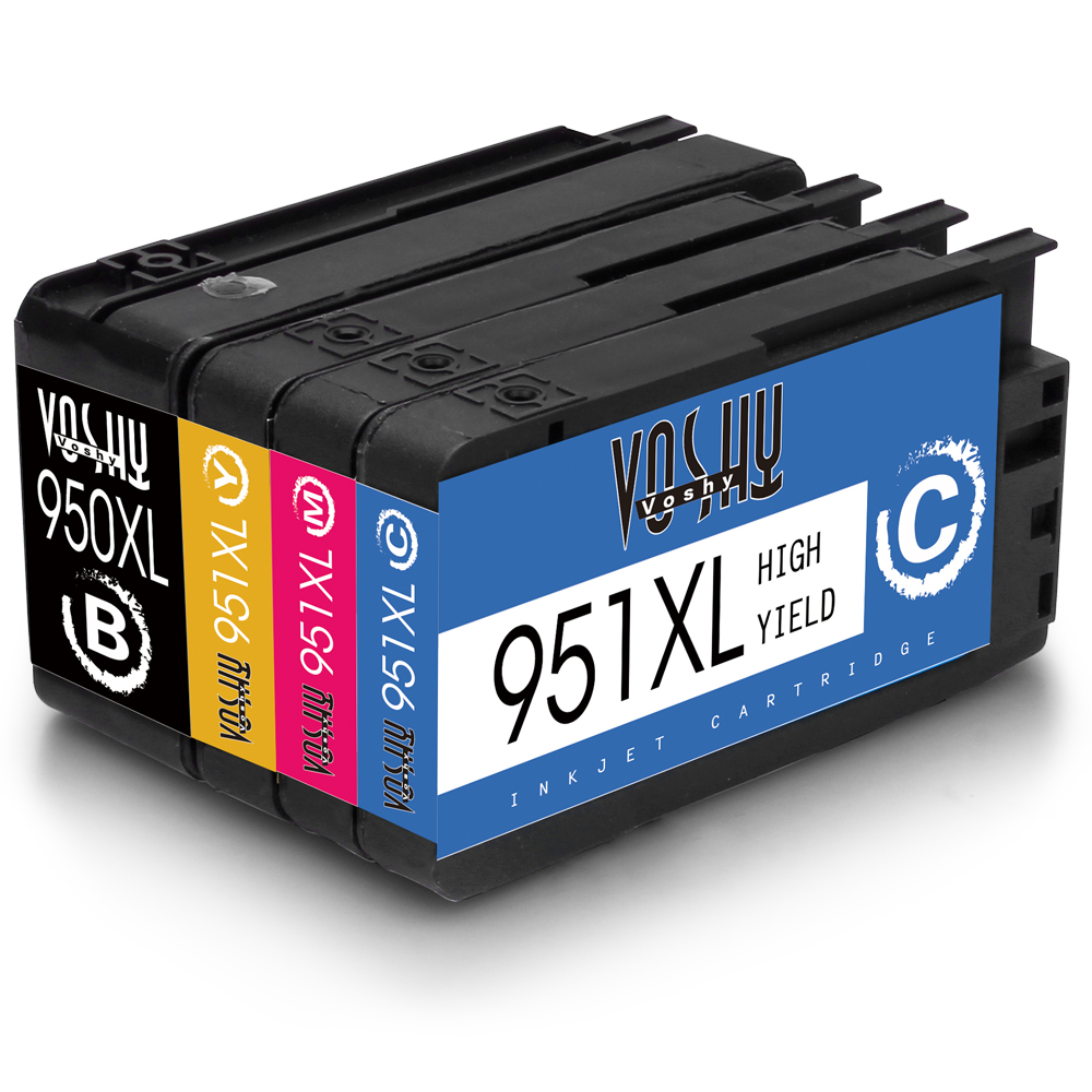 Voshy Compatible Ink Cartridges Replacement for HP 950 951 950XL 951XL (2BK/2C/2M/2Y, 8-Pack), Work with HP Officejet Pro 8610 8620 8600 8630 8100 8625 251DW 276DW 8615 8640 8110 271DW Printer